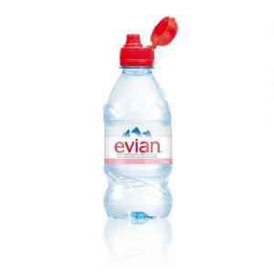 Evian Eau minérale naturelle avec bouchon sport