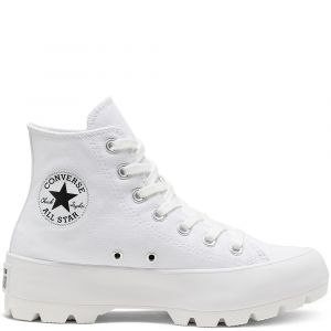 Converse Chuck Taylor All Star Lugged Hi toile Femme-38-Blanc