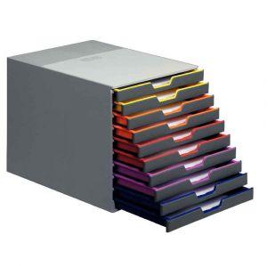 Durable Module de classement Varicolor 10 tiroirs 7610-27