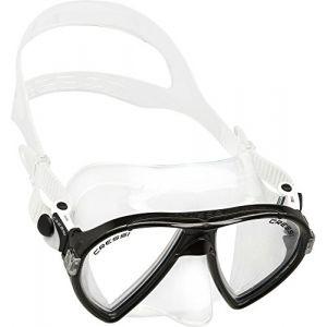 Cressi Ocean Masque de Snorkeling/Plongée/Chasse sous-Marine Clear/Noir