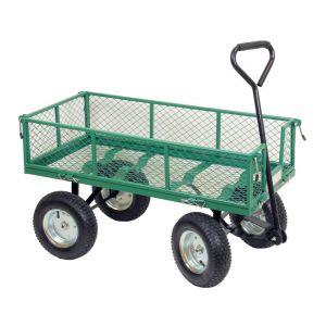 Chariot 4 roues plateau/grille (non monté)