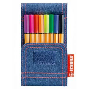 Stabilo Point 88 Mini - Pochette de 8 Mini Feutres Jeans Edition