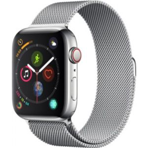 Apple Montre connectée Watch 44MM Acier/Milanais Series 4 Cell