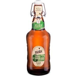 Image de Fischer 3 houblons - Bière blonde - 65 cl - 7,2%