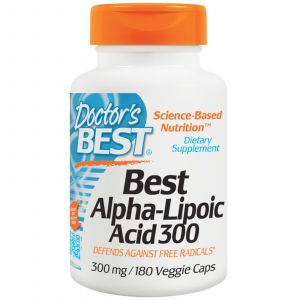 Doctor's best Best Alpha-Lipoic Acid 300, 300 Mg, 180 Veggie Caps