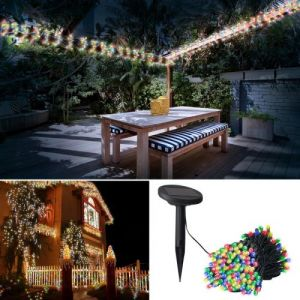Idmarket Guirlande solaire 400 led multicolores décoratives
