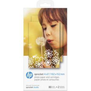 HP Papier photo 2 cartouches et 80 feuilles pour Studio