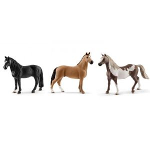 Schleich Figurines de chevaux hongre (tennessee walker, hanovre, paint horse)