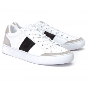 Lacoste COURTLINE 319 1 US CMA, Baskets Hommes, Blanc (White/Black 147), 42.5 EU