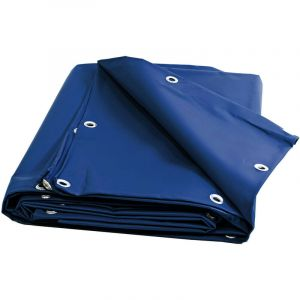 Bâches Direct Bache serre tunnel 680 g/m² - Bache Ignifugée M2 - 10 x 15 m - Bleue pour serre PVC - bache imperméable