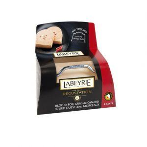 Labeyrie Bloc de foie gras de canard du Sud-Ouest avec morceaux - La boite de 6 à 9 parts, 300g