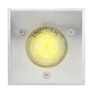 Polarlite Spot LED extérieur encastrable LED intégrée blanc chaud 3 W noir