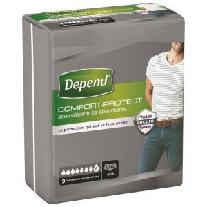 Depend Comfort Protect Homme - Taille L/XL pour Incontinence x54