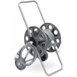 Alice's Garden Dévidoir sur roues 20m, enrouleur avec tuyau d'arrosage, raccord et lance fournis