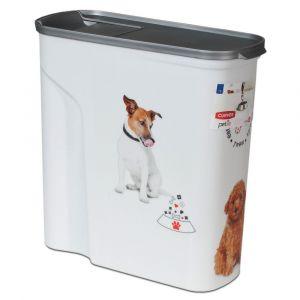 Curver Conteneur à croquettes Love pets 20 Kg - Blanc - Pour chien