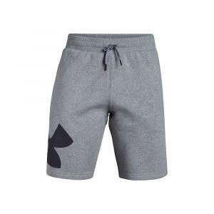 Under Armour Rival Fleece Logo M vêtement running homme Gris/argent - Taille M