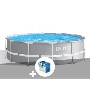 Intex Kit piscine tubulaire Prism Frame ronde 3,66 x 0,99 m + Bâche à bulles