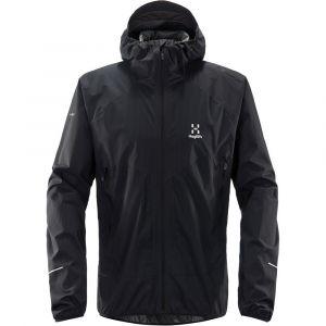 Haglöfs L.I.M Proof Multi Veste Homme, true black solid XL Vestes de pluie