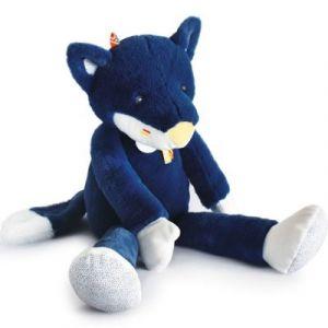 Image de Doudou et Compagnie Peluche naissance twipi loup pantin 60 cm Bleu Nuit - Taille Taille Unique