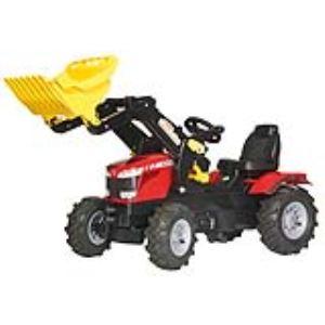 Rolly Toys Tracteur à pédales Massey Ferguson 8650 avec chargeur