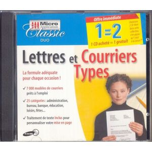 Lettres et courriers types [Windows]