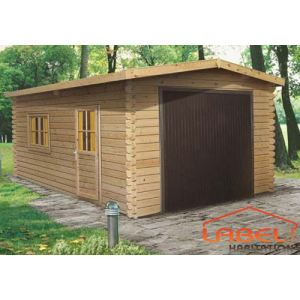 Madeira GA2754 - Garage en bois avec porte basculante 13,59 m2