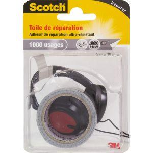 Scotch Toile adhésive de réparation 3 x 38 gris