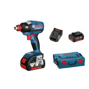 Bosch GDX 18 V-EC - Boulonneuse 2 en 1 sans fil Coffret L-BOXX 2 batteries Li-Ion 18V 4,0 Ah