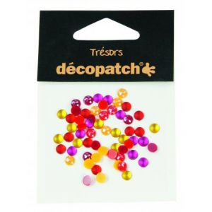 decopatch Set 60 cabochons 5mm - jaune/orange