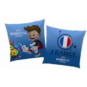 Coussin carré mascotte Victor Euro 2016 France (40 x 40 cm)