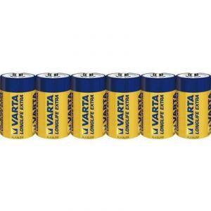 Varta 6 piles alcalines D LR20 1.5V Longlife Extra