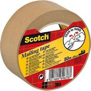 Scotch P5050 - Ruban adhésif d'emballage P5050, en papier marron, 50 mm x 50 m