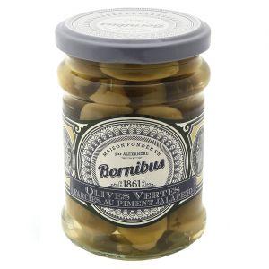 Bornibus Olives vertes farcies au piment Jalapeno - Bocal 140g