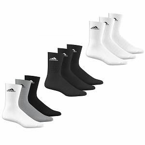 Adidas 3s Performance Crew Half Cushioned 3pp EU 47-50 Chaussettes