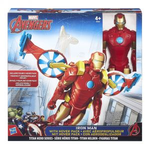 Hasbro Iron + véhicule - Avengers figurine 30 cm