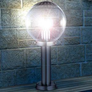 Globo Lighting Lampe d'extérieur Globo BOWLE II Acier inoxydable, Transparent, 1 lumière Moderne/Design/Classique Extérieur II