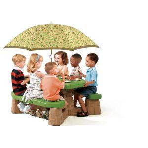 Step 2 Table de jardin Picnic avec parasol