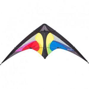 HQ Cerfs-Volants Pilotables 2 Lignes Yukon II Rainbow - Cerf-volant Pilotables 2 Lignes Yukon II multicolore, tissu nylon, structure fibre de verre / carbone 4-5mm, avec poignée et fil, dimensions 164 cm x 84 cm.