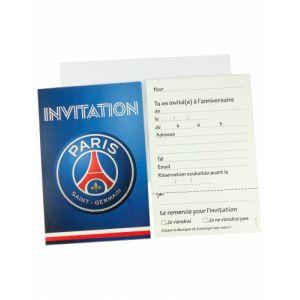6 cartes d'invitation + 6 enveloppes PSG