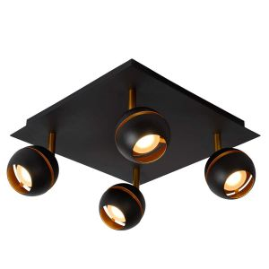 Lucide Spot Plafond Binari - LED - 4x5W 2700K - Noir