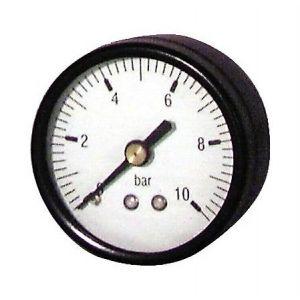 Manomètre prise axiale 0 à 10 bars Ø 50mm