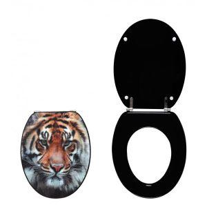Wirquin 20719131 - Abattant WC 3D (tête de Tigre)