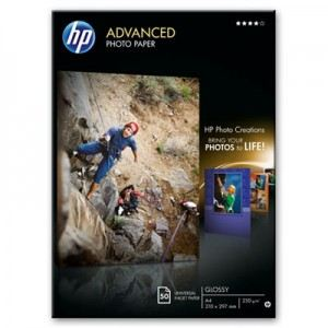 HP Q8698A - 50 feuilles de papier photo Advanced Glossy 250g/m² (A4)