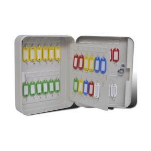 VidaXL Boîte à clés avec 48 étiquettes à clés porte-clés à étiquettes 5 couleurs