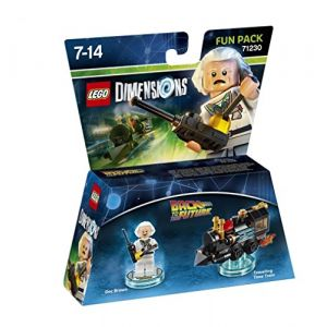 Warner Figurine Lego Dimensions 'Retour vers le Futur' : Doc Brown : Fun Pack