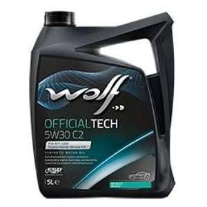 Wolf Bidon 5 litres d'huile 5W30 moteur C2 SYNFLOWC2LE5W305 - 8309113