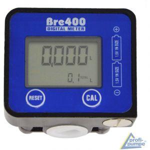 BC-Elec NEFWM-02 Débitmètre numérique pour pompe de transfert de fluide Diesel, Huile Eau Adblue 19-190 l/min, 1/2'', Compteur de liquide - Bleu
