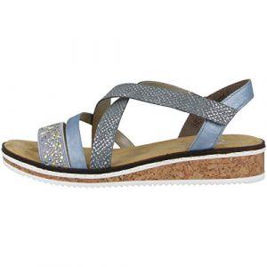 Rieker Damen-Sandalette Blau 910824-5, Grösse 38