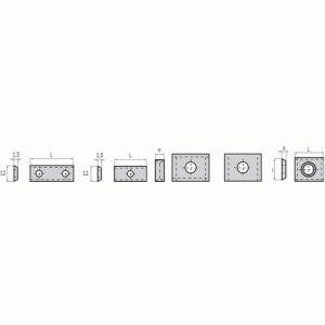 Leman 02.2171.4 - 10 Plaquettes carbure réversibles 14x14x1,2mm 4 coupes