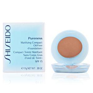 Shiseido Pureness 50 Deep Ivory - Compact teinté matifiant sans corps gras <Fond de teint> SPF 15